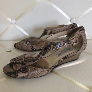 Jimmy Choo Snakeskin Heels with Small Wedge